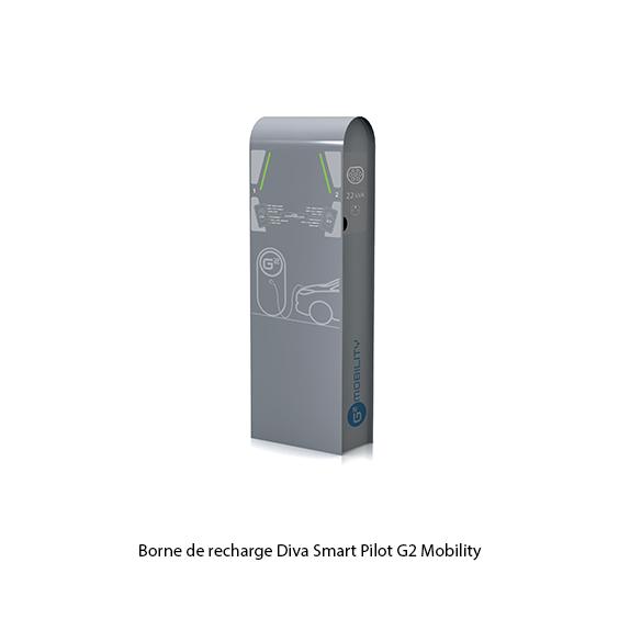 G2 Mobility borne de recharge Diva Smart Pilot